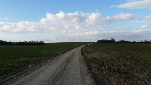 Kurz vor Nellingen - gleich bin ich zu Hause...