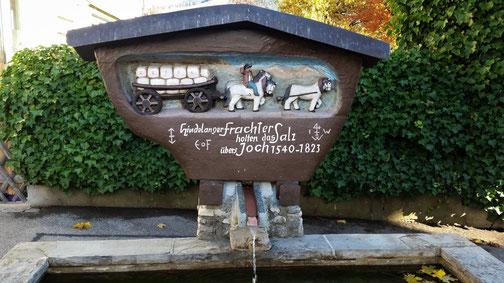 Ein Brunnen in Bad Hindelang...