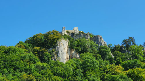 Das Rusenschloss, erbaut 1080...