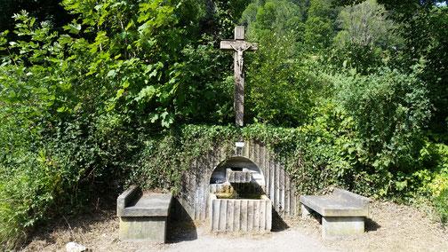 Im Dürrental - ein wunderschöner Brunnen lädt zum Verweilen ein...