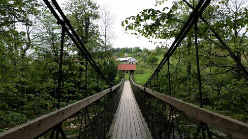 Hängebrücke über die Argen...