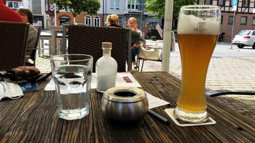 Beim Becka-Beck in Laichingen wartet schon eine Stärkung...