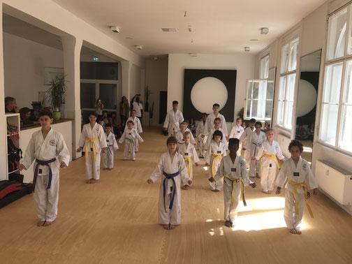Taekwondo-Unterricht für Kinder von 5-7 Jahren
