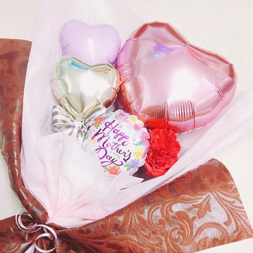 花束 アレンジメント 風船 バルーン 母の日 プレゼント ギフト