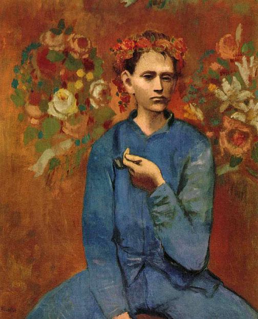 Пабло Пикассо - мальчик с трубкой