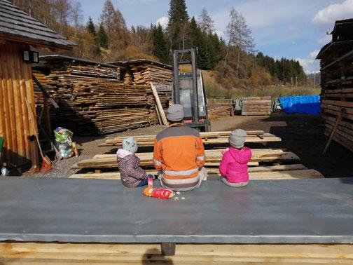 Holzlagerplatz