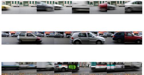 Claire Guyard-Aschehoug photo montage numérique voiture vitesse cars motion