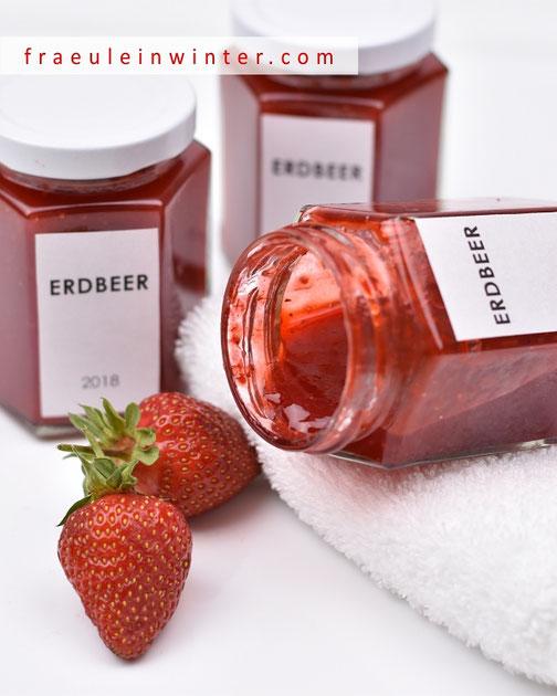 Erdbeer-Marmelade (Konfitüre) selbst gemacht. | Fraeulein Winter