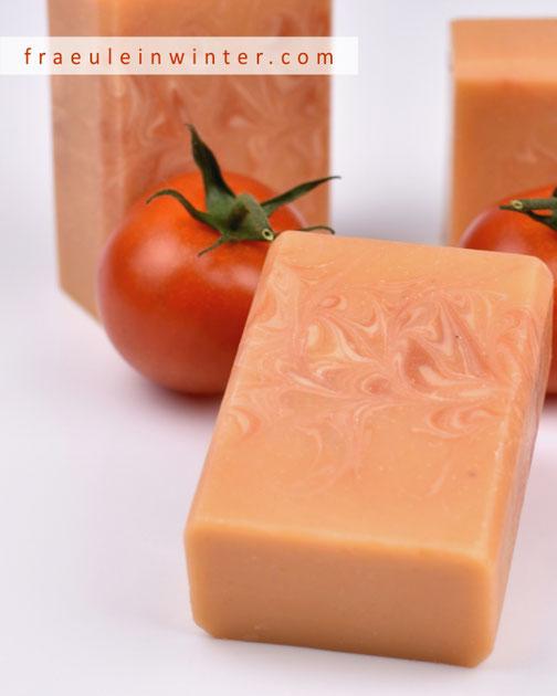 Seife mit frischem Tomatensaft | Fraeulein Winter