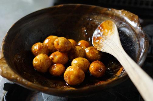 陶芸家 ブログ 茨城県笠間市 土鍋 料理 時短料理 新じゃが甘辛煮