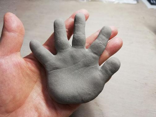 陶芸家 ブログ 茨城県笠間市 子供手形 赤ちゃん手形 お祝い 記念