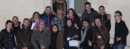 Une partie de l'équipe de tournage.