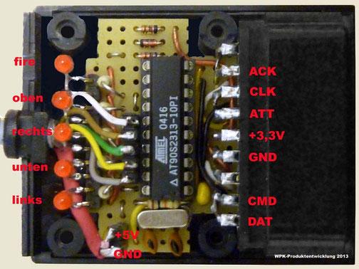 PS2-Interface im Gehäuse