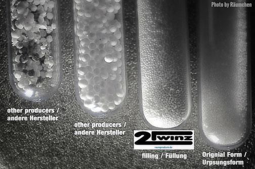 2Twinz airpop comparison / EPS Perlen Vergleich
