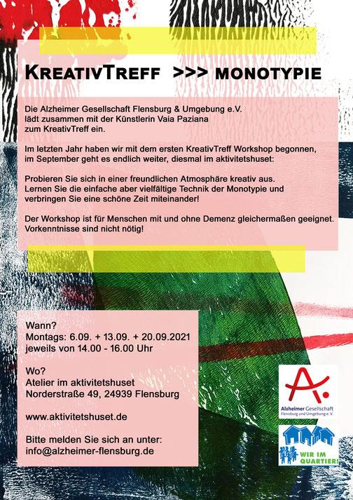kreativtreff, Vaia Paziana, artist, monotypie