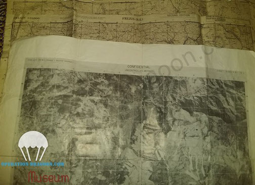 """John BRADOVICH """"D"""" day maps and air picture of the landing Zone"""