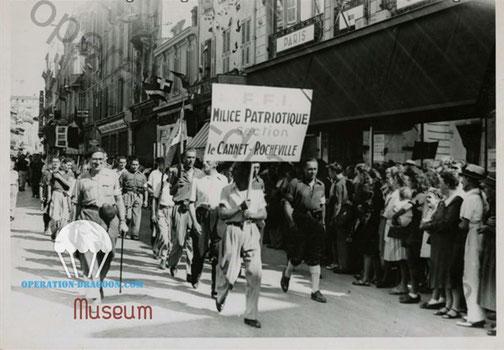 Libération des Alpes Maritimes, Cannes. 22 août 1944. Col. Fressin. archives