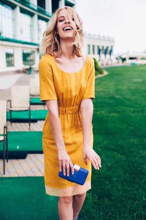 Kleid in gelb von style-balance.com