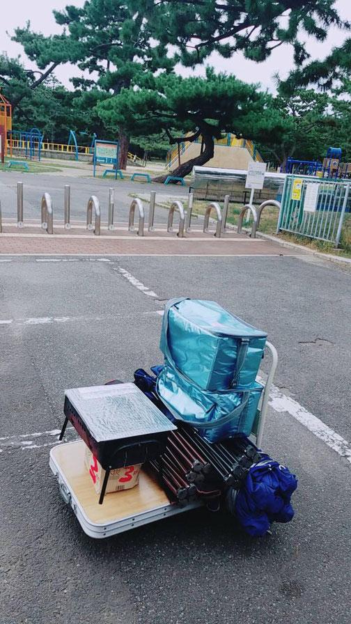 大泉緑地で機材の現地レンタル