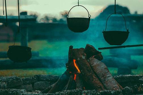 オフシーズンのアウトドア飯 鍋