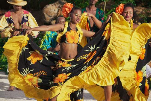 Feier und Tänzerin in Port Louis, Mauritius