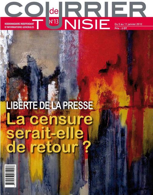 Ma peinture pour illustrer la liberté de la presse - N° de Janvier 2012
