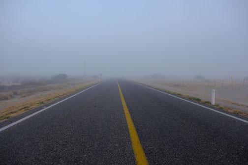 brouillard en basse Californie du sud