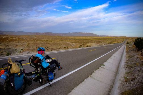 route de baja california avec vélo