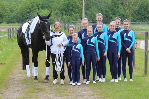 Die 4. Mannschaft des RVO konnte sich über eine goldene Schleife im Wettbewerb der E Gruppen freuen.
