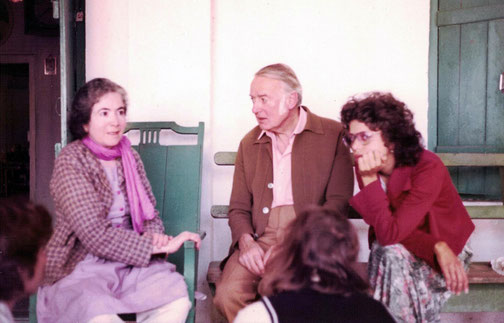 Sir Thomas Hopkinson with Mani S. Irani in 1976. Rosie Polo next to Tom. Photo by Kendra Crossen Burroughs