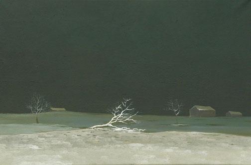 """Martin Guido Becker, """"Winternacht"""", 2016, Öl/Lwd, 40/60 cm"""
