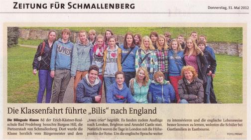 Westfalenpost, 31.05.2012