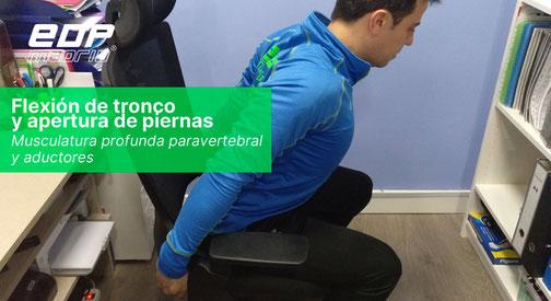 Flexión de tronco y apertura de piernas