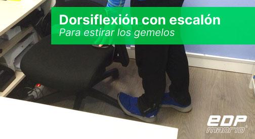 Dorsiflexión con escalón