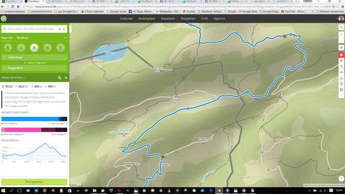 Biketour Planung mit komoot, leicht verständliches Kartenmaterial