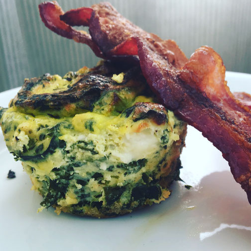 Mini Quiche with a Side of Bacon