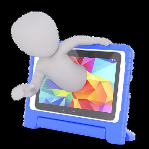 リアルな講義の場ではなくZoomなどのWebツールを使っての講座実施をイメージするイラスト