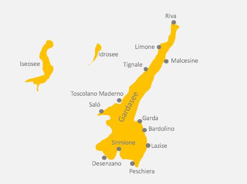 Karte Gardasee und Umgebung