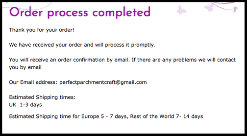 Order Completed