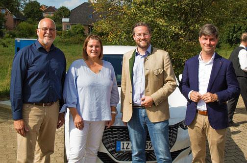 Johann Hansen, Sandra Reese (GuBV), Dr. Otto Carsten, Mark Helfrich (MdB)