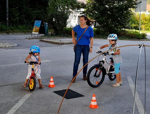 Der Fahrrad-Parcours von Radlobby Argus Steiermark begeisterte Eltern und Kinder