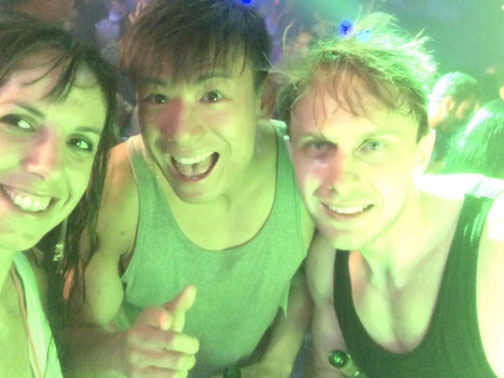 The gang: Irene, Jack and Matt (from left to right) at Songkran in Patong, Phuket (Thailand)