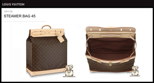 Steamer bag Louis Vuitton prix du neuf M41126