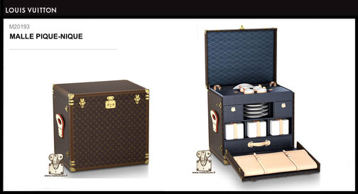 M20193 - Malle pique-nique Louis Vuitton prix du neuf 60000 euros