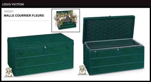 M20231 - Malle à fleurs Louis Vuitton prix du neuf 60000 euros