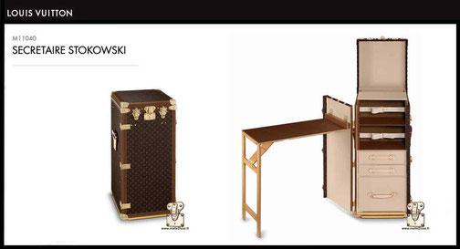 Malle secrétaire stokowski Louis Vuitton M11040 prix neuf