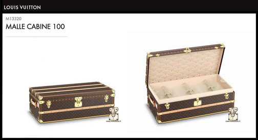 M13320 - Cabin trunk 100 price of new Louis Vuitton 21,000 euros