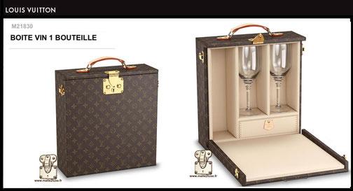 M21825 - Boîte à vin ( 1 bouteille ) Louis Vuitton prix neuf 5300 euros