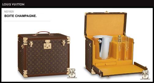 M21825 - Boîte champagne Louis Vuitton Prix du neuf 18000 euros