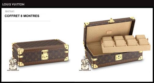 M47641 - Coffret 8 montres Louis Vuitton prix neuf 4300 euros